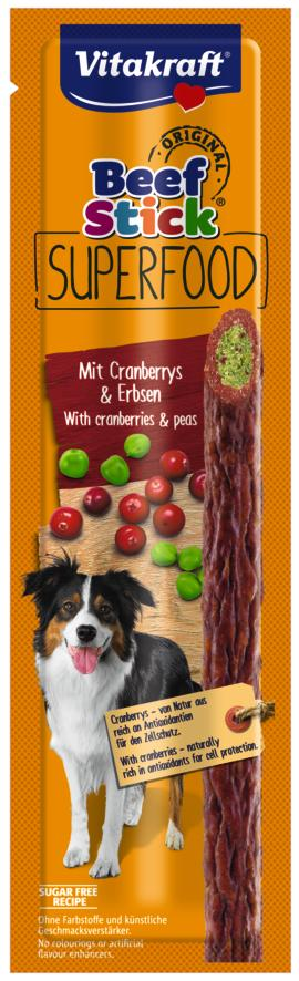 Vitakraft Beef Stick Superfood erwt cranberry