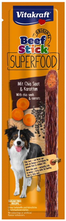 Vitakraft Beef Stick Superfood wortel chia zaad