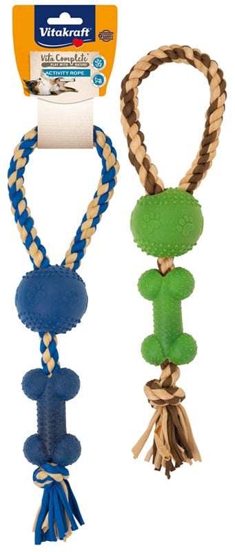 Vita Complete® Play with Nature Activity Rope / Activity corde avec os grand modèle