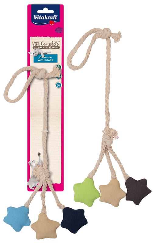Vita Complete® Play with Nature Dangler with Stars / mobiel met canvas sterren
